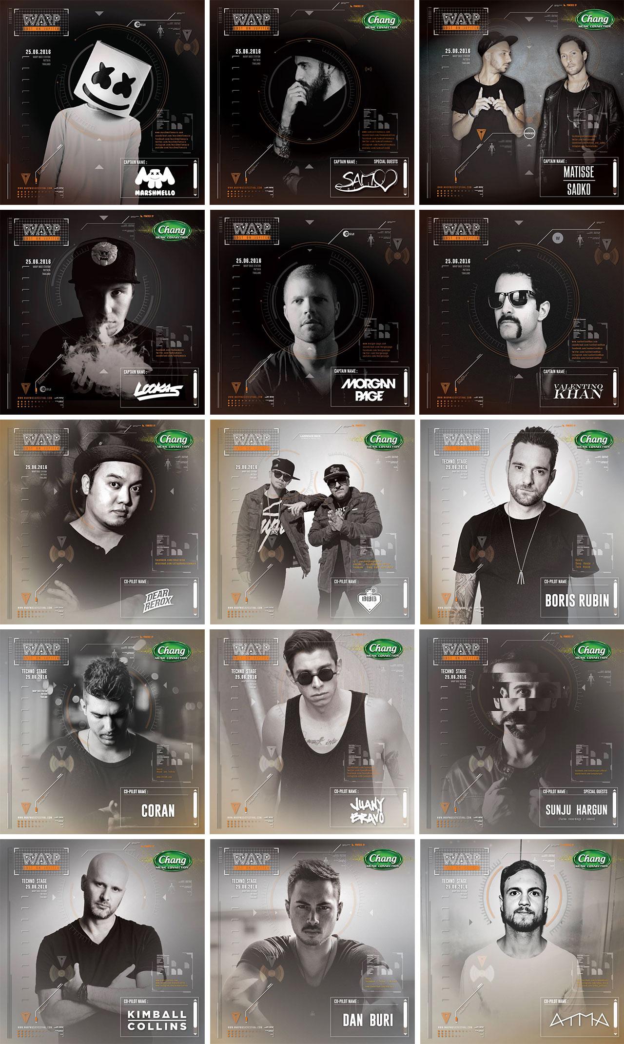 Warp Music Festival 2016 : Lost On Jupiter, Pattaya